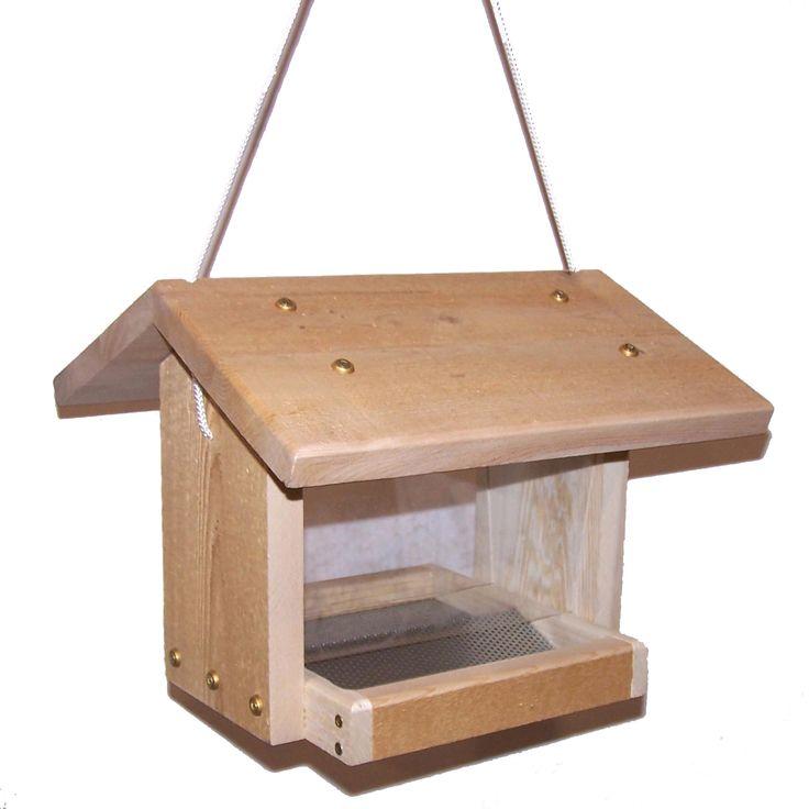 Z-ETB  Post mount or hanging hopper feeder. Easy to fill. Screen bottom.