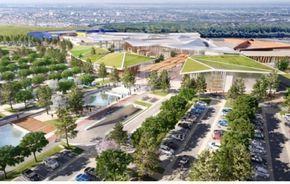 Le projet est porté par Ikea Centres, la foncière du groupe Ikea, et sa conception architecturale a été confiée au cabinet L35.