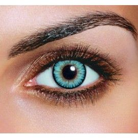 Dual Color Sky Blue Contact Lenses (Pair) - Colored Contacts For Dark Eyes