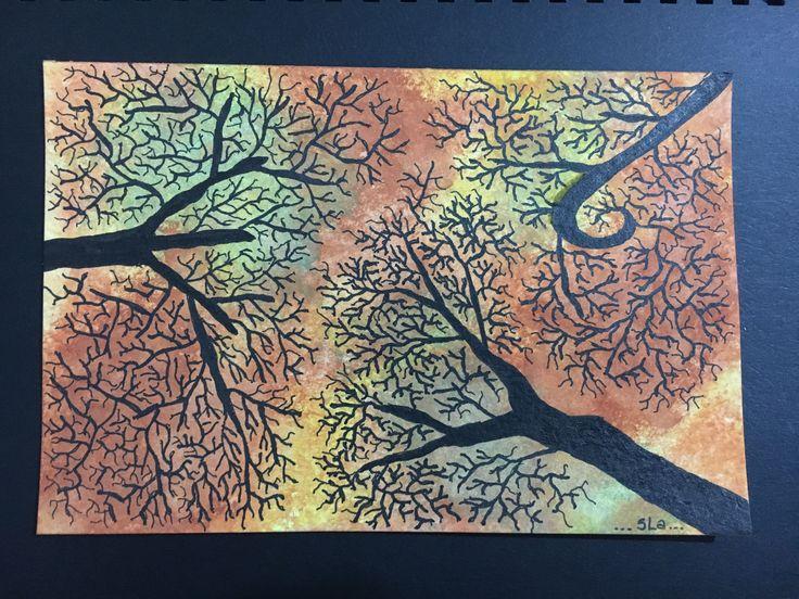 watercolor falla trees