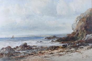 Albert Pollit -  On the Cumbrian coast 1898 15.75 in. (40.00 cm.) (height) by 23.62 in. (60.00 cm.) (width)