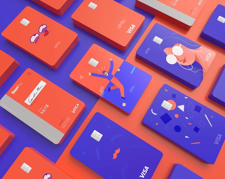 Behance in 2020 debit card design credit card design