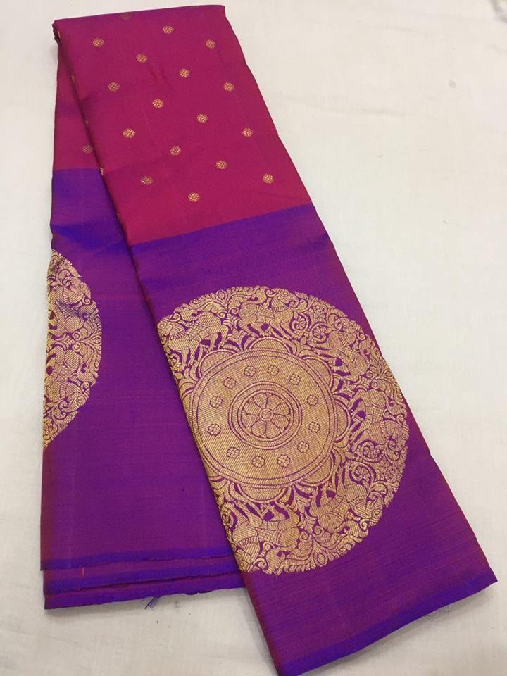 Kanchivaram silk saree Cost 15500 Whatsapp: 7019277192