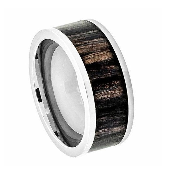 mens wood ringstitanium wedding bandmens titanium ringpromise ring for men