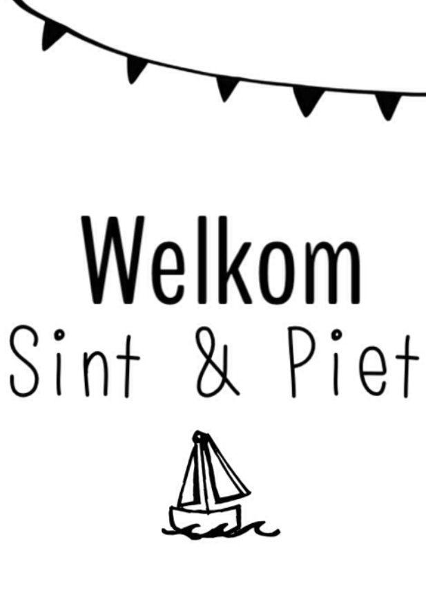 Sinterklaas van free print van eigenwijsprintjuh (facebook)