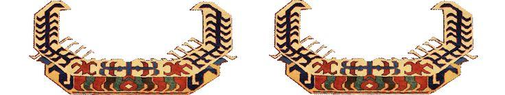 Kazak del Caucaso, artigli del drago di Kazak Celaberd. Glossario dei tappeti