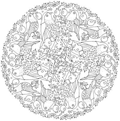festive coloring pages - photo#49