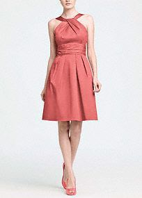 This short cotton dress is flattering and comfortable.  The Y neck detail adds interest while the skirt pleating and sleeveless silhouette keep the look young.  Wear again with heels or with casual sandals.  Versatilestyle that can be worn for many seasons.  Fully lined. Back zip. Dry clean only.  Get inspired by our colors..  To protect your dress, try our Non Woven Garment Bag.  Please Note- Select colors are on sale. Please click color and size to view pricing.