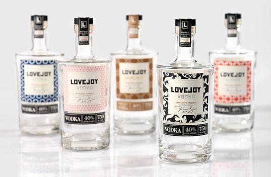 //: Crafts Paintings, Bottle Labels, Home Crafts, Fashion Vintage, Packaging Design, Bottle Packaging, Lovejoy Vodka, Bottle Design, Drinks