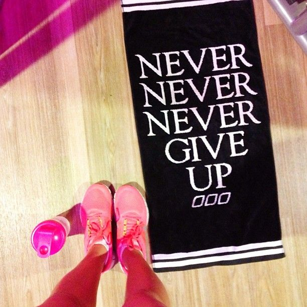 Workout Towels With Sayings: Never Never Never Give Up Xx I Love This Towel