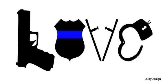 Yet another way to show your support for law enforcement! So cute!
