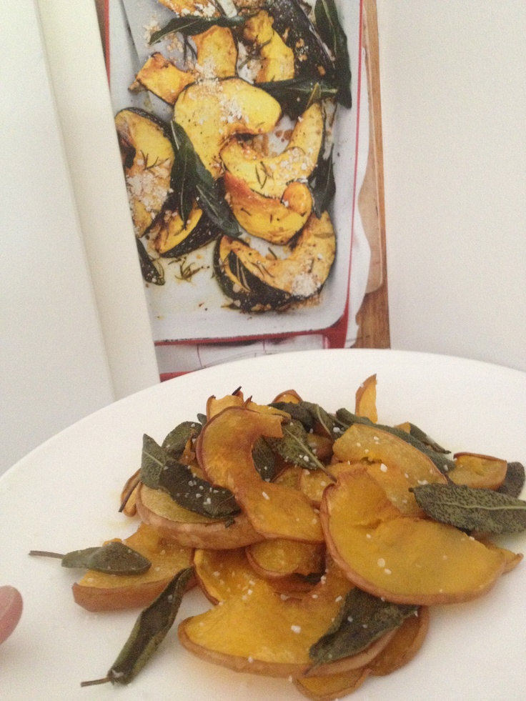 Roasted pumpkins with sage and salt. That's it!