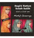 Jilbab Segiempat Bolak Balik Motif Cherrys