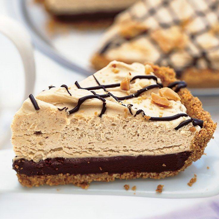 Black-Bottom Peanut Butter Mousse Pie