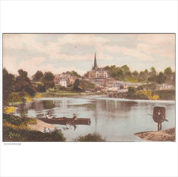 Two Men In A Boat And One Man Carrying A Boat At Ross Lancashire Postcard (LAN46 on eBid United Kingdom