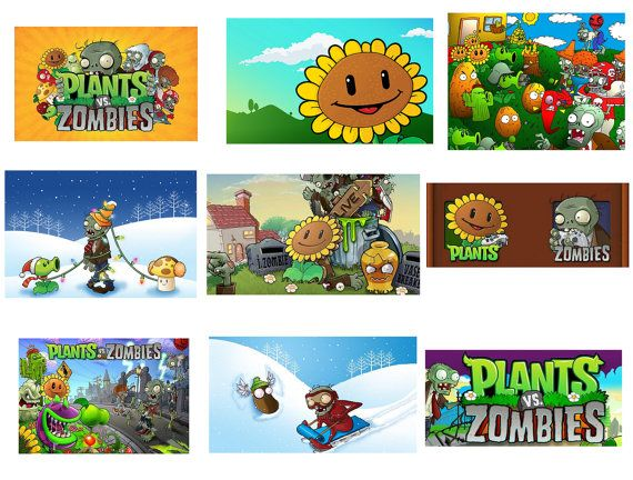 18 plants vs zombies stickers loot goody gift favor treat candy bag fillers kids kids party suppliesplanting - Zombie Party Supplies
