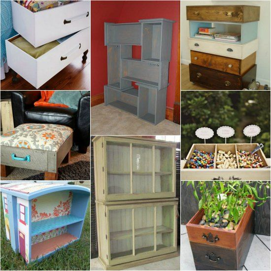 There Are Many Ways To Repurpose Dresser Drawers For Your