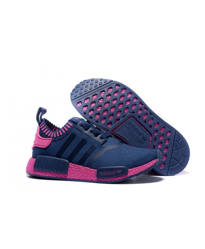 Adidas NMD Runner Primeknit Trainers In Blue Pink