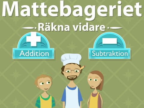 I Mattebageriet 2 - räkna vidare fortsätter ditt barn att hjälpa pappa bagare att baka pepparkakor och samtidigt träna matte. Fast nu med lite större tal och med klassisk uppställning. Appen riktar sig i första hand till barn i åldrarna 7-10 år.