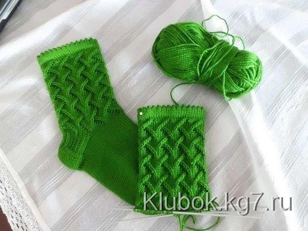 Красивый узор для носка   Клубок