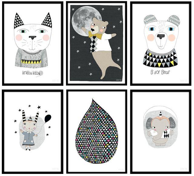 Affiche poster illustration enfant style scandinave chambre déco