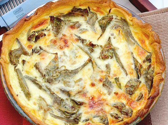 #artichokes and #mozzarella #pie