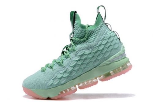 a0d8494ef1cd Legit Cheap Nike LeBron 15 Mint Green Pink Mens Basketball Shoes For Sale -  ishoesdesign