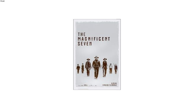The Magnificent Seven is made the bus shelter 4x6 or 48x70 movie poster is very large.