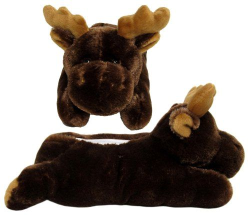 nice Brown Moose Animal Slippers
