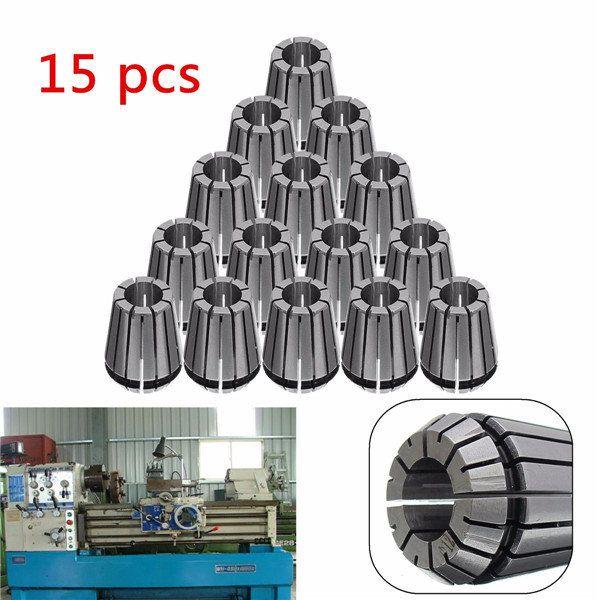 15pcs ER25 2mm-16mm Spring Collets Chuck Collet for CNC Lathe Machine