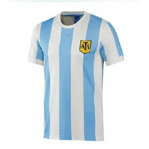 Argentina National Team 1978 Home Blue White Retro Soccer Jersey [K141]