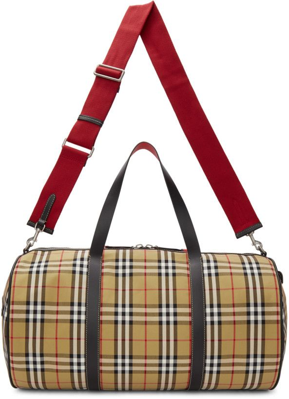 6bff043d1c BUEBERRY   Beige Large Kennedy Duffle Bag   $1590 USD   Canvas duffle bag  in '