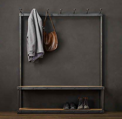 Wouldn't this be great for your back hallway? You can hang coats, backpacks, purses and more! Plus, there's that handy spot for shoes underneath!