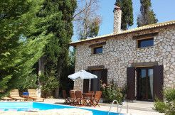 For sale small luxurious stone built villa in Lefkada island