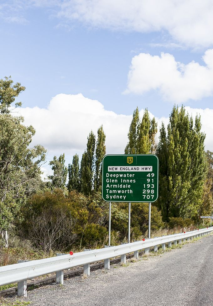 Australia road sign. All the places on this sign are wonderful to visit. Been to every one and loved it, especially Glen Innes.