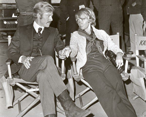 Behind the Scenes of 'Butch Cassidy and The Sundance Kid' ~ Robert Redford with wife Lola Van Wagenen ~ Blog source: http://rainorsundance.tumblr.com