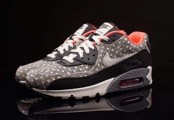 Conception innovante d94a0 35543 Nike Air Max 90 Polka Dot Black Anthracite Crimson (petits ...