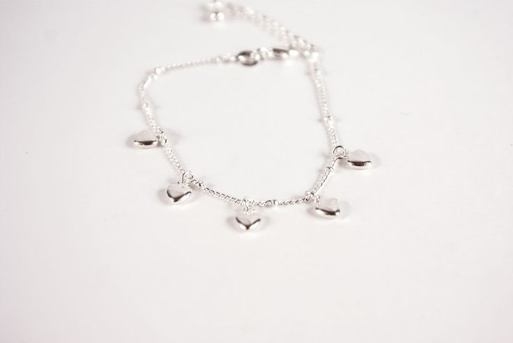 Heart Charm Bracelet in Silver for €9,90 by Golden Eight