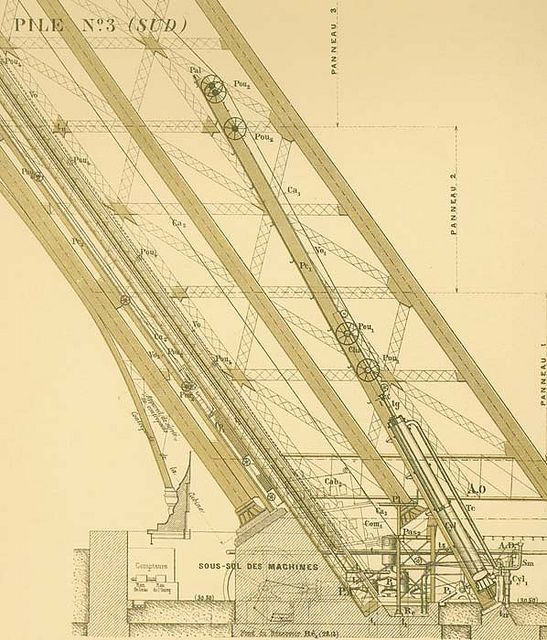 Original plans for the Eiffel Tower