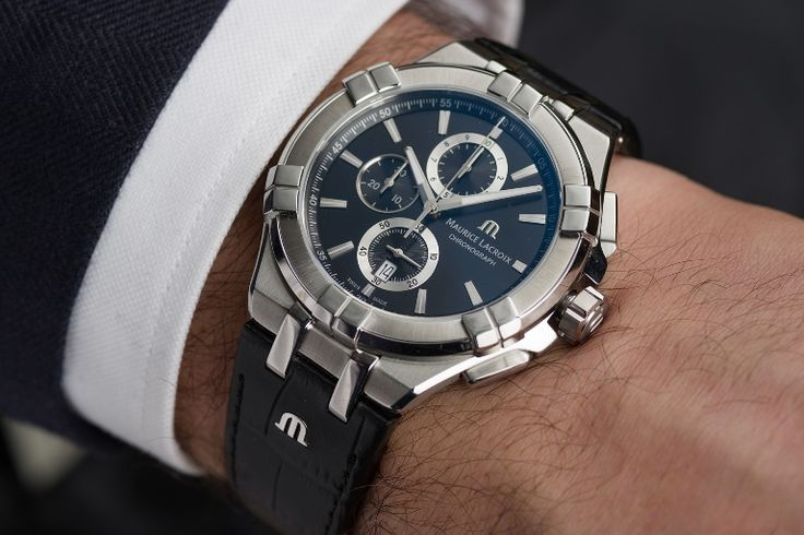 Shining from its own light - meet the new AIKON Chronograph. #mauricelacroix #watches #style