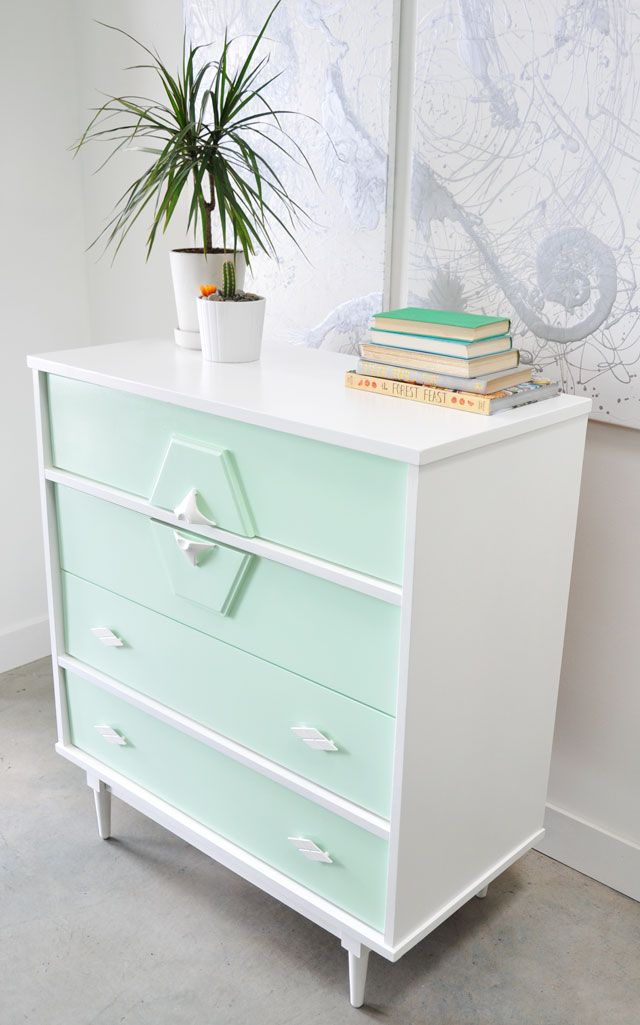 """...I use Benjamin Moore Advance for all my furniture pieces. This paint finishes like an enamel, but it's water based which makes cleaning up s..."