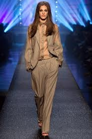 Cool, effortless, androgynous style ...  part of the Jean Paul Gaultier, s/s 2013  collection