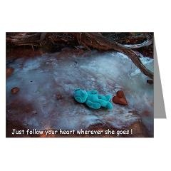 Just Follow Your Heart Greeting Card > Just Follow Your Heart > Blue Bear Loves You