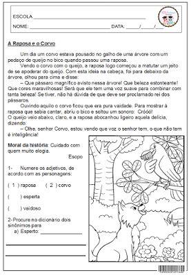 fabula, interpretação, língua portuguêsa
