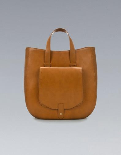 TOTE BAG WITH POCKET - Handbags - TRF - ZARA United States