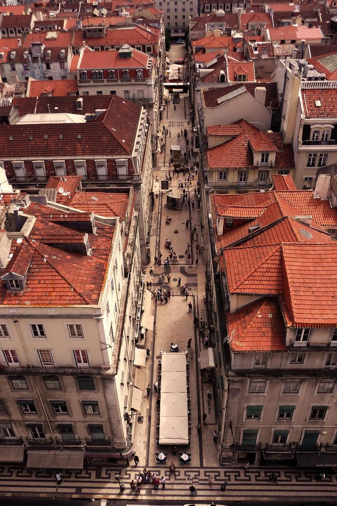 The roofs of Lisbon, Portugal