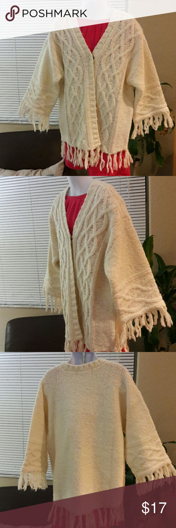 Girl's Cardigan cream jacket coat Omg this is a beautiful Cream Jacket!! Never used. With tag. Forever 21 Jackets & Coats