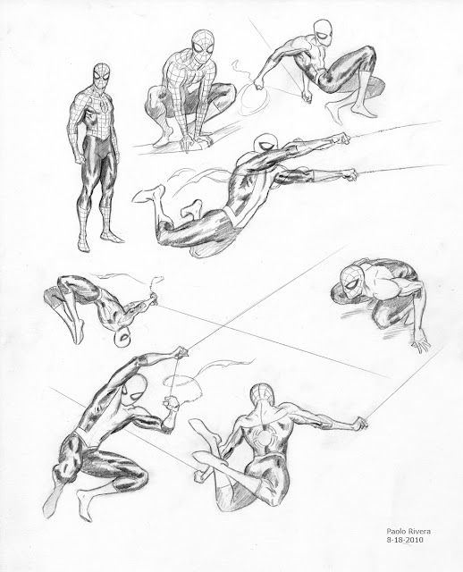 More concept sketches of Ultimate #Spider-man from Paolo Rivera. He makes it look effortless. #Comics #ComicArt