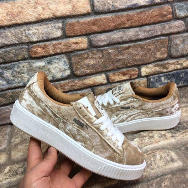 Puma Fenty Krem-Kahverengi Renk Parlak Süet Beyaz Taban Spor Ayakkabı  WhatsApp Bilgi Hattı ve Sipariş : 0 (541) 2244 541  www.renkliayaklar.net