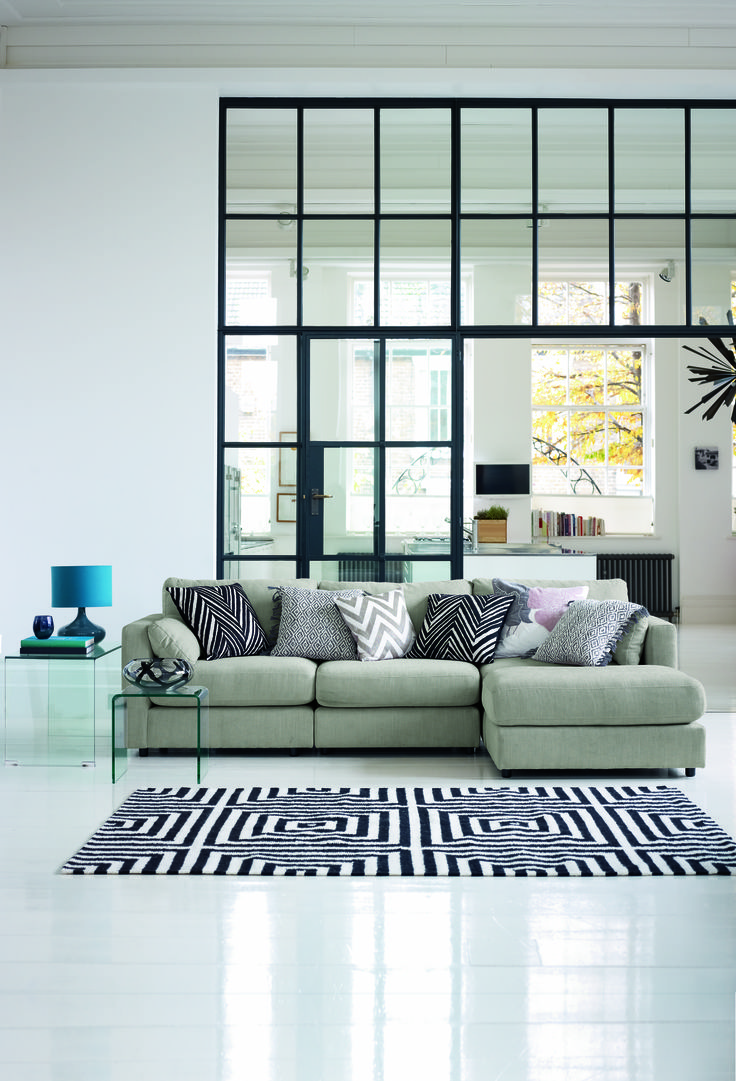 Bring The Scandinavian Feel To Your Home With A Monochrome Colour Theme In Accessories Such As Cushions And Rugs
